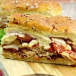 You don't have to go to the famous Brown Hotel to enjoy these Kentucky Hot Brown Sliders. These drool-worthy sandwiches are a delicious homemade version of the yummy Hot Brown. #hotbrown #sliders #kentuckyhotbrown #sandwich