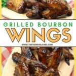 Wow your crowd at your next bbq or summer gathering. These Grilled Bourbon Chicken Wings are a deliciously simple grilled chicken recipe. #wings #grilledchickenwings #wingrecipe #bbq