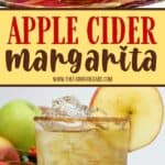 This refreshing Apple Cider Margarita is the perfect way to toast the fall season. This easy margarita recipe is a twist on the classic and full of apple flavor. Serve this refreshing fall cocktail while enjoying a nice fire. Your guests will love this fall apple recipe. It is also a perfect holiday cocktail to serve during the holiday season. Easy Fall Cocktail