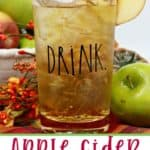 This refreshing Apple Cider Margarita is the perfect way to toast the fall season. This margarita recipe is a twist on the classic and full of apple flavor. #margarita #applecidermargarita #falldrink #drinkrecipe