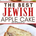 This Jewish Apple Cake recipe is moist and packed with sweet apples and cinnamon. This easy apple cake has a crunchy apple cinnamon topping. Be sure to grab a slice before it's all gone.