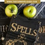 Cast a spell on your friends and family this Halloween. Create your own Halloween Spellbook with this easy craft tutorial. This Halloween craft is spellbinding! #halloweencraft #hocuspocus #halloweendecor