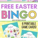 Free Easter Bingo Printable Game Cards are fun activity kids to play at home, church or classroom parties. Download these bingo cards today for some Easter fun! #EasterBingo #EasterGame #KidsCraft