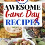 Score big at your Game Day party with a fantastic spread of these Amazing Dips, Apps, And Snacks! These game day recipes are winners. Everyone loves football food. These Super Bowl Party recipes will score big points with your guests. #footballfood #gamedeayrecipes #superbowlrecipe #diprecipe #appertizers