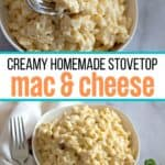 Nothing says creamy and cheesy quite like this Homemade Mac and Cheese. Talk about ultimate comfort food. The cheesy stovetop macaroni and cheese will be a new family favorite recipe.