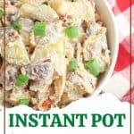 When you need a side salad for burgers, hot dogs, and even grilled chicken, prepare this Instant Pot Baked Potato Salad. It is easy to make and absolutely flavorful.
