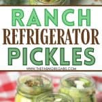 """If you are a fan of ranch dressing, try making ranch pickles. Refrigerator ranch pickles aren't a """"new recipe"""" but have gained a lot of popularity lately thanks to TikTok. This eas refrigerator pickle recipe will be a hit."""