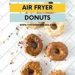 Homemade Donuts are a delicious breakfast treat or snack! Quick to make and healthier than cooking them in oil, 5 Minute Air Fryer Donuts can be customized with different flavored glazes. This is an easy air-fryer dessert recipe.