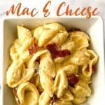 Ditch the box of macaroni and cheese and make a cheesy side on the stovetop with this stovetop Bacon Mac and Cheese recipe. It's simple, flavorful, and perfect to serve with some of your favorite entrees, such as chicken and pork! This stovetop macaroni and cheese recipe is a perfect weeknight meal idea. Your family will love this creamy mac and cheese recipe. This is the mac & cheese is the ultimate comfort food recipe.