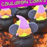 These bewitching Minnie Mouse Cauldron Cakes are a fun Disney Halloween cupcake recipe to serve. You'll love this easy Halloween treat recipe.