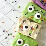 Prepare a fun and yummy Halloween snack for the spooky season with these Monster Rice Krispies Treats. These easy Halloween treats are flavorful, adorable, and perfect for children's parties and Halloween gatherings with family and friends. You can make your own homemade Rice Krispies treats or use the store-bought variety.