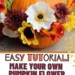 no carve pumpkin flower arrangements