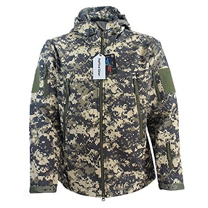 4. ReFire Gear Men's Soft Shell Military Tactical Jacket