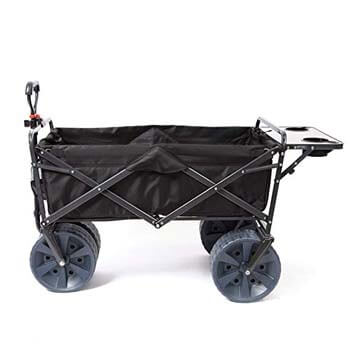 9. Mac Sports Heavy Duty Collapsible Wagon, Black with Table.