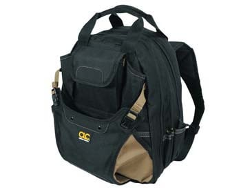 3: CLC Custom Leathercraft 1134 Carpenter's Tool Backpack, 44 Pockets, Padded Back Support