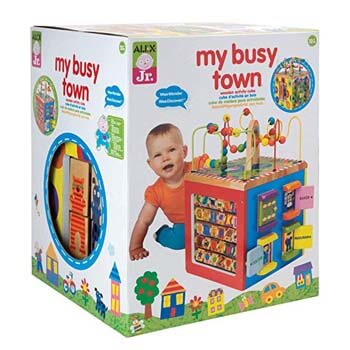 2: ALEX Toys Discover My Busy Town Wooden Activity Cube