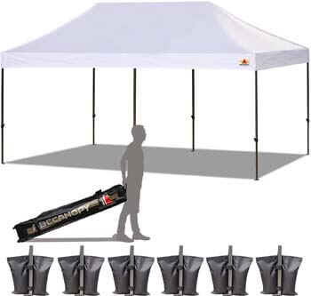 8: ABCCANOPY 18+ Colors 10x20 Pop up Tent Instant Canopy Commercial Outdoor Canopy Wheeled Carry Bag Bonus 6X Weight Bag (White)