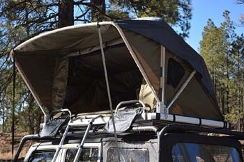 2. Raptor Series 100000-126800 OFFGRID Voyager Jeep Truck SUV Camping Rooftop Tent with Ladder
