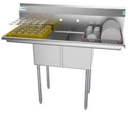 3. KoolMore 2 Compartment Stainless Steel NSF Commercial Kitchen Prep & Utility Sink