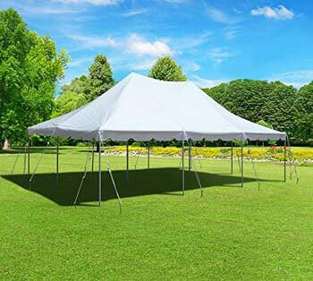 1. 20-Foot by 30-Foot White Pole Tent Commercial Canopy Heavy Duty