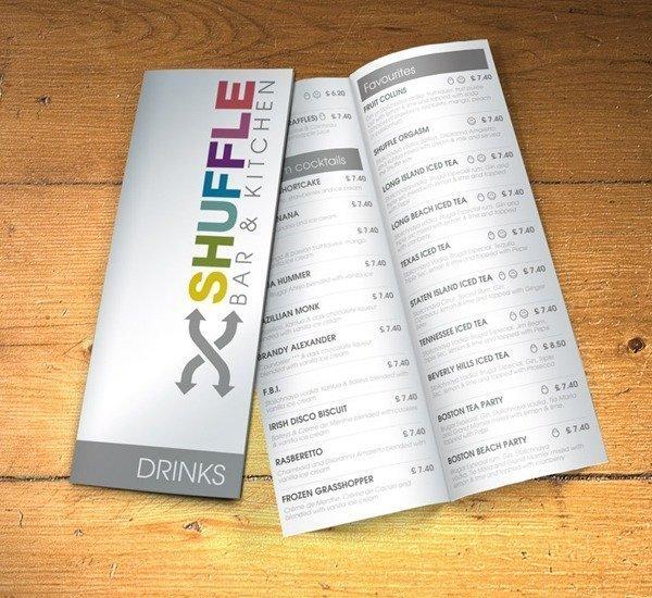 a3 folded leaflet