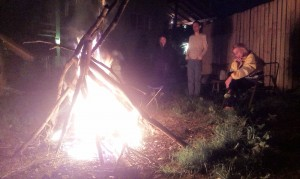 Foc de tabără în ultima seară