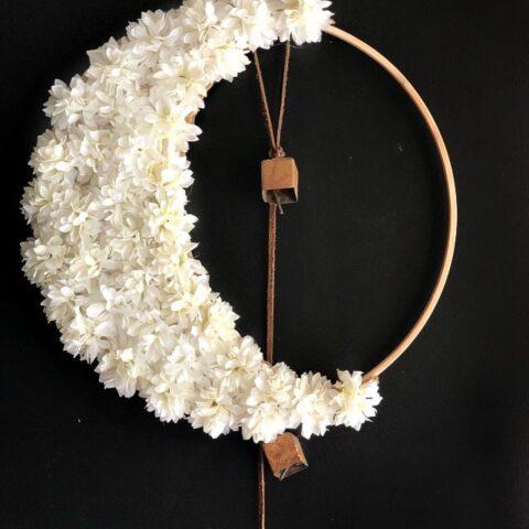 Crescent Moon Wreath Halloween