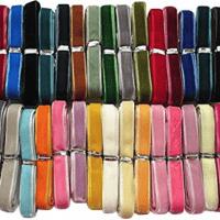 Chenkou Craft 30 Yards 3/8; Velvet Ribbon Total 30 Colors Assorted Lots Bulk