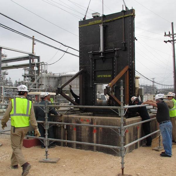 Grant Pass WT Slide Gate Installation