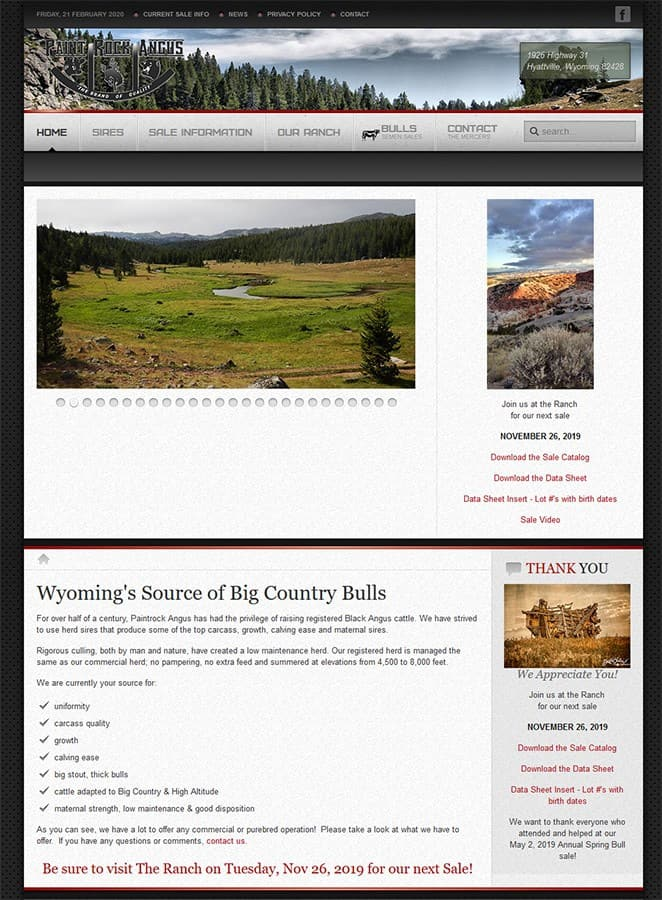 Paint Rock Angus Ranch Homepage