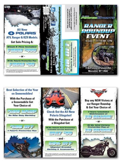 Motorsports Store Brochure Marketing