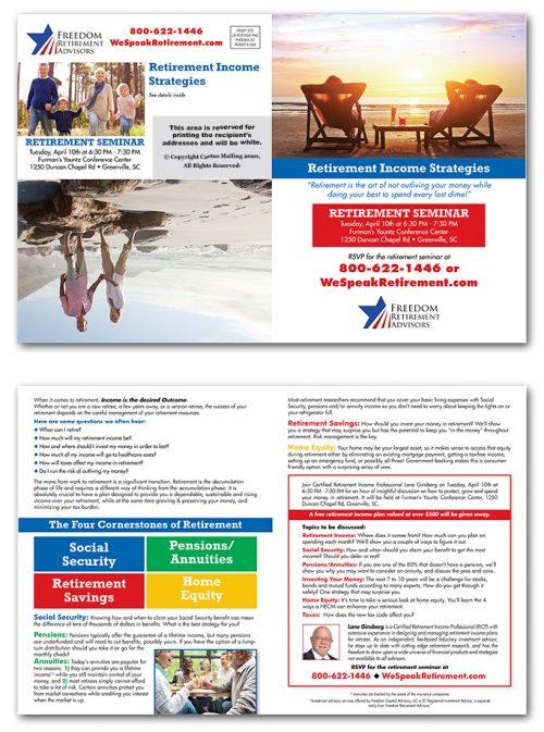 Retirement Services Brochure Marketing