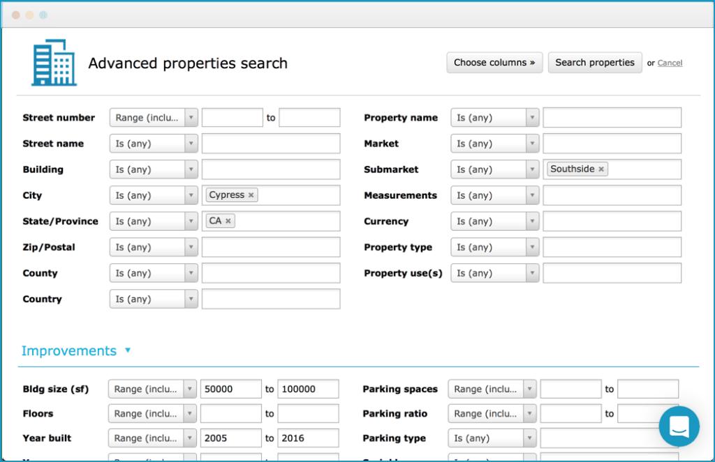 advanced property searches