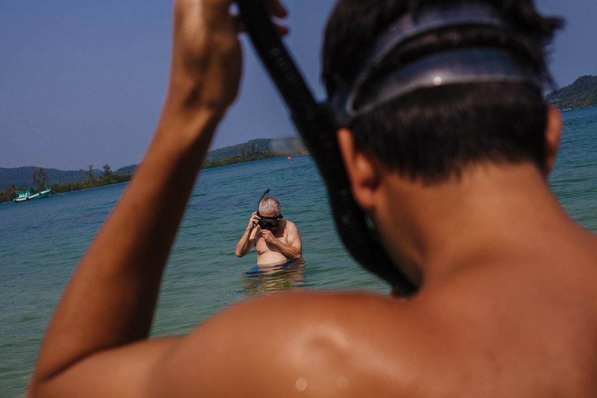 Snorkling at Song Saa private island resort Cambodia