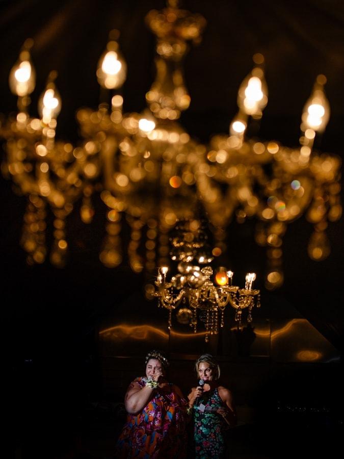 Beautiful wedding reception chandelier
