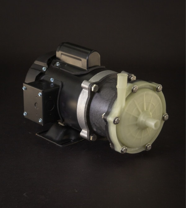 March Pump's 335-AP-MD centrifugal sealless magnetic drive pumps constructed from Polypropylene ideal for low flow high head applications.
