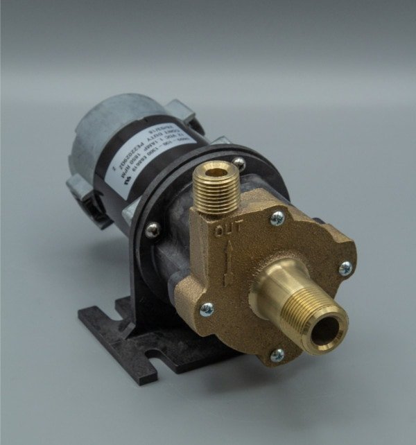 March Pump's 809-BR-HS-C centrifugal sealless magnetic drive pumps with DC brush type motor.