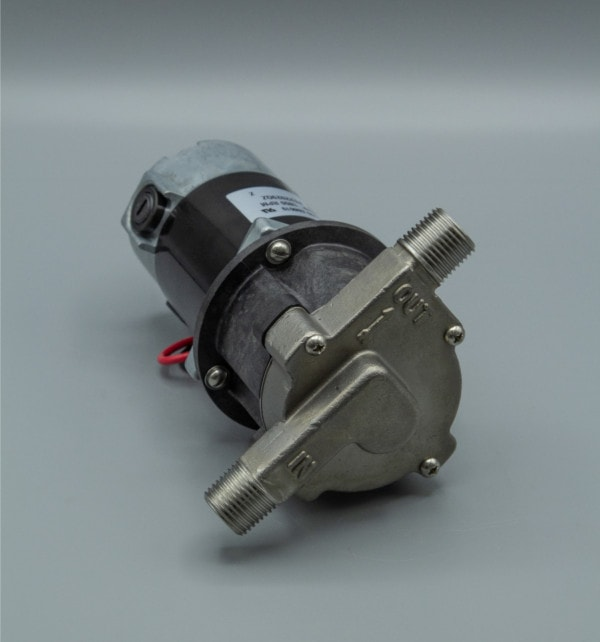 March Pump's 809-SS centrifugal sealless magnetic drive pumps with DC brush type motor.
