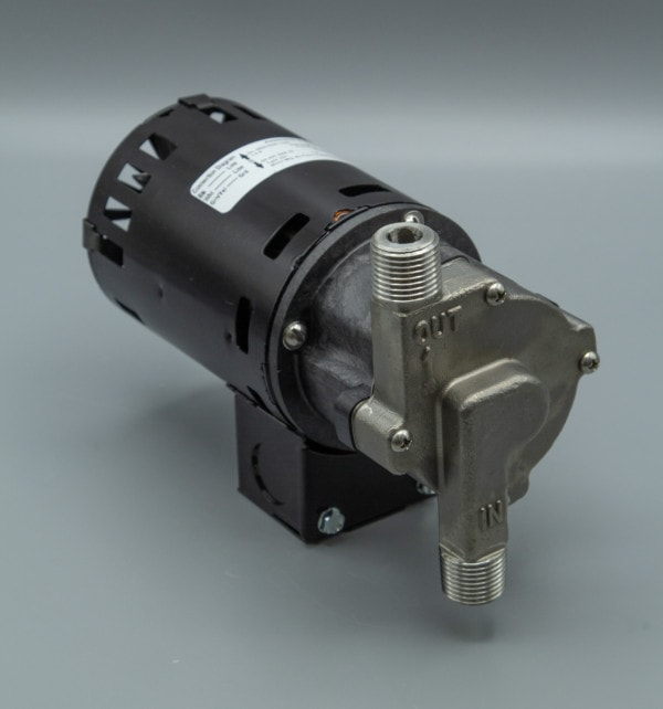 March Pump's 809-SS-HS centrifugal sealless magnetic drive pumps with Stainless Steel front housing.