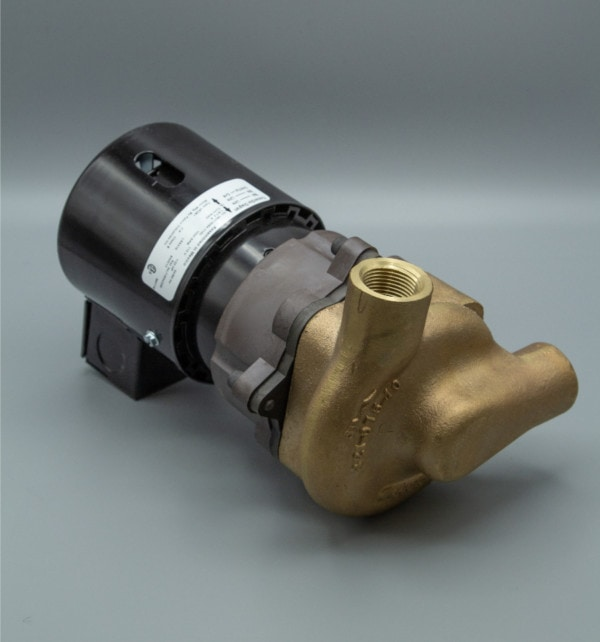 March Pump's 821-BR-T centrifugal sealless magnetic drive pumps ideal for hot water applications.