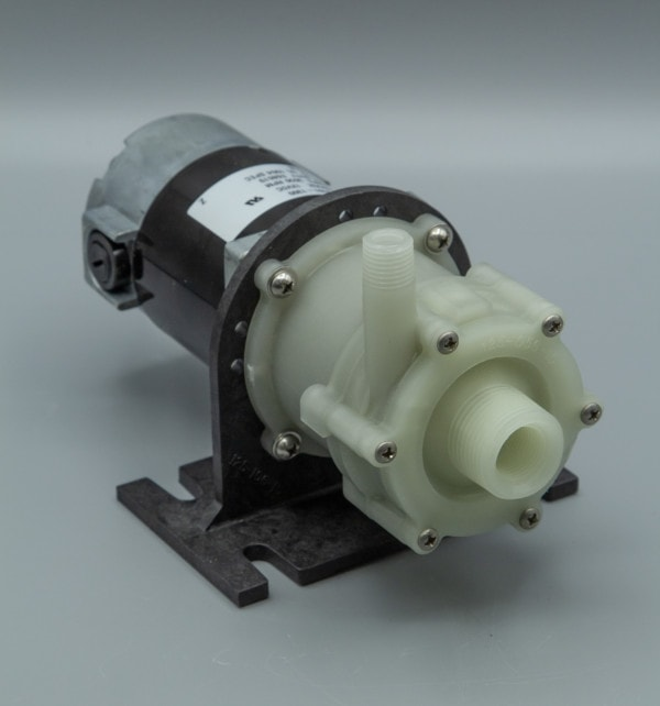 March Pump's BC-2CP-MD centrifugal sealless magnetic drive brush type pumps ideal for chemical applications.