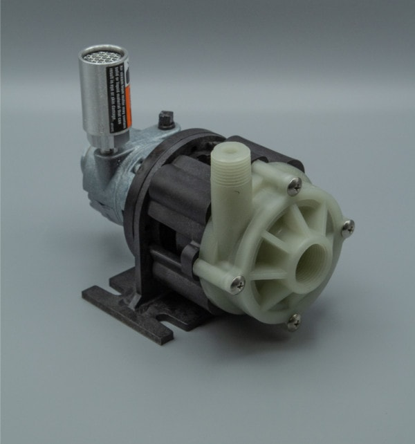 March Pump's BC-3CP-MD-AM centrifugal sealless magnetic drive air powered pumps ideal for chemical applications.