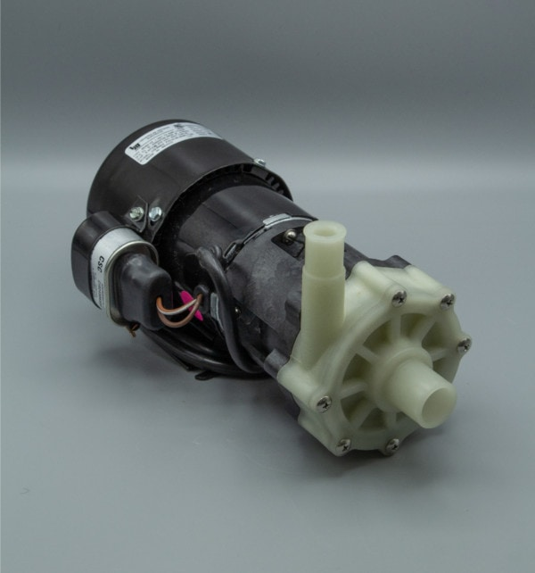 March Pump's BC-4A-MD centrifugal sealless magnetic drive pumps constructed from Polypropylene ideal for chemical applications.