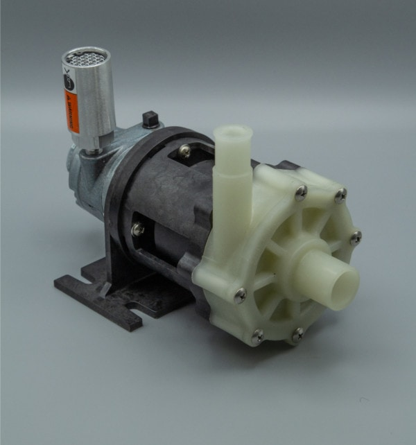 March Pump's BC-4A-MD centrifugal sealless magnetic drive air powered pumps ideal for chemical applications.