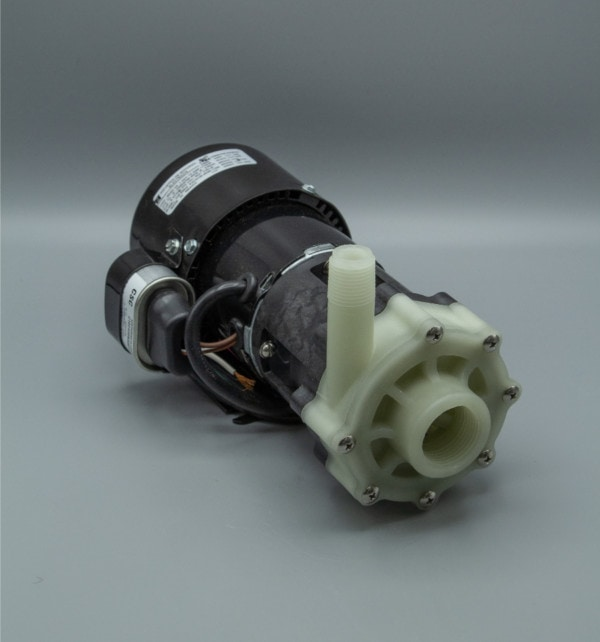 March Pump's BC-4C-MD centrifugal sealless magnetic drive pumps constructed from Polypropylene ideal for chemical applications.