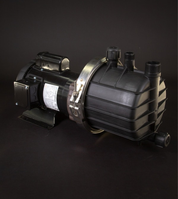 March Pump's SP-TE-7P-MD centrifugal sealless magnetic drive self priming pumps ideal for chemical applications.