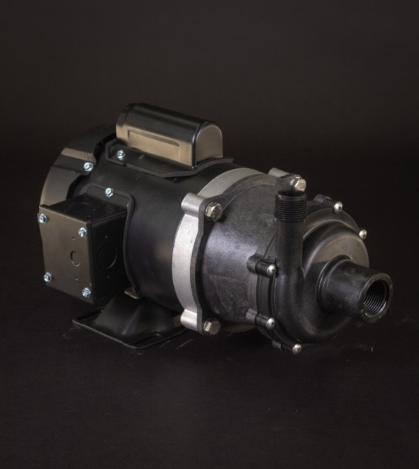 March Pump's TE-5.5C-MD centrifugal sealless magnetic drive pumps constructed from Polypropylene ideal for chemical applications.