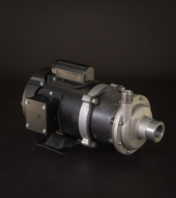 March Pump's TE-5.5K-MD centrifugal sealless magnetic drive pumps constructed from 316 Stainless Steel ideal for chemical applications.