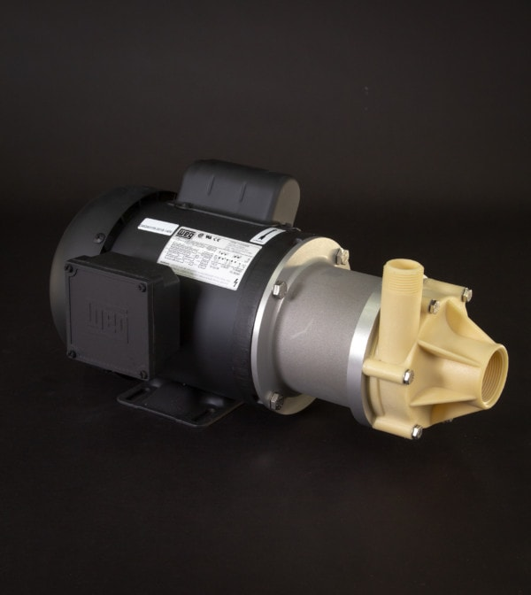 March Pump's TE-7K-MD centrifugal sealless magnetic drive pumps constructed from Kynar ideal for chemical applications.