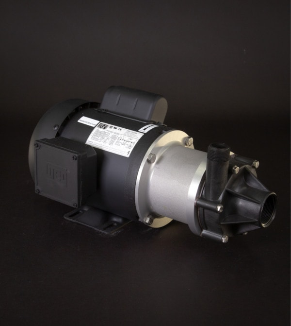 March Pump's TE-7P-MD centrifugal sealless magnetic drive pumps ideal for chemical applications.